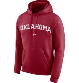 Nike Men's Nike Oklahoma Crimson Club Fleece Pullover Hoodie