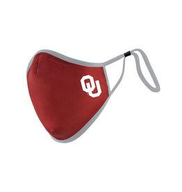 Distanz Health Mask OU Crimson/Grey Polygiene Mask L/XL