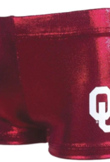 Foxy's Girl's Oklahoma Crimson Sparkle Gym Shorts