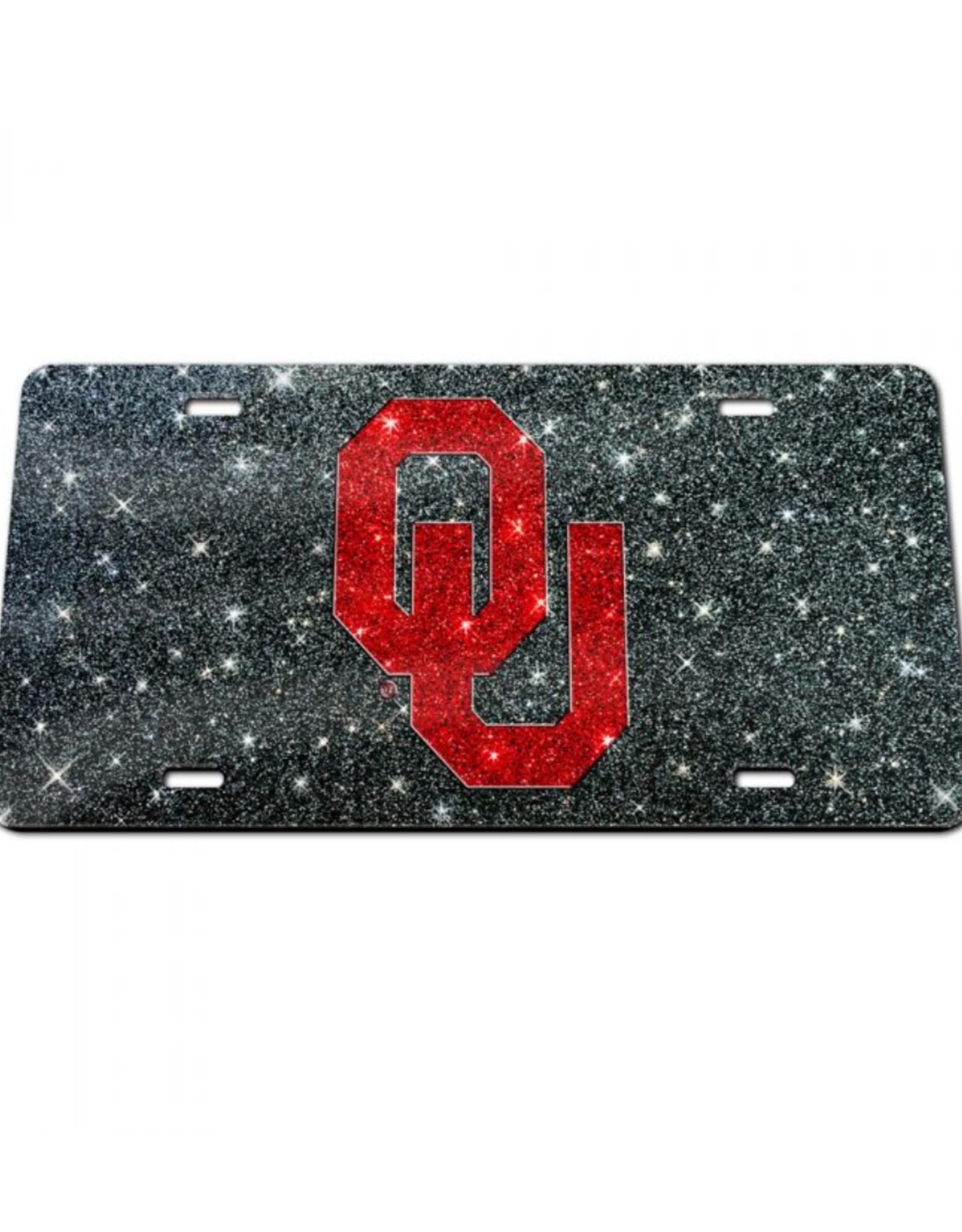 Stockdale OU Crimson/Black Glitter License Plate