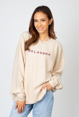 Chicka-d Women's Chicka-D Ivory Embroidered Corded Crew