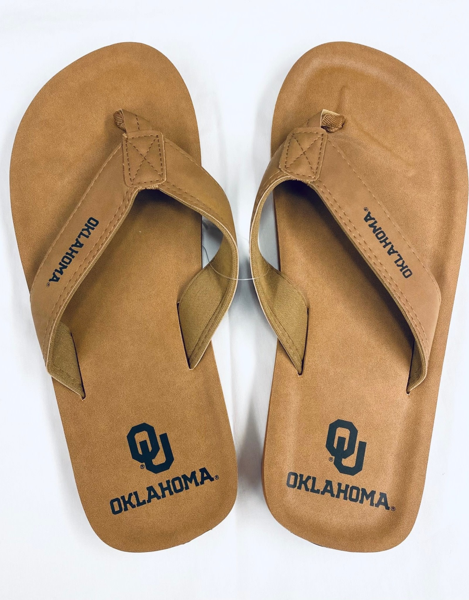 Forever Collectibles Men's Oklahoma Contour Flip Flop