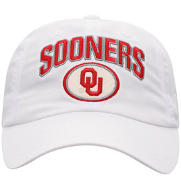 Top of the World TOW Felt Oval Oklahoma Adjustable White Cap