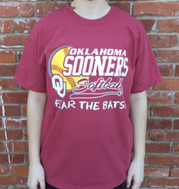 "Comfort Colors Comfort Colors ""Fear the Bats!"" OU Softball Tee"