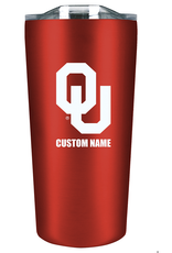The Fanatic Group Personalized 18oz Stainless Tumbler-Crimson