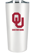 The Fanatic Group Personalized 18oz Stainless Tumbler-White