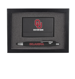 The Fanatic Group Personalized OU Business Card Holder w/ Pen