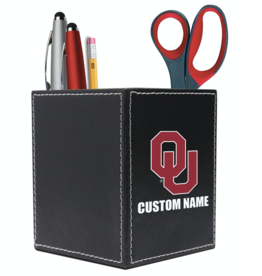 The Fanatic Group Personalized Leather Desk Caddy