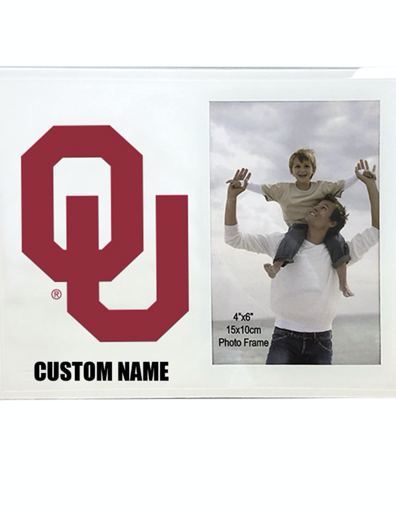 """The Fanatic Group Personalized 4""""x6"""" Metal w/ Glass Photo Frame"""