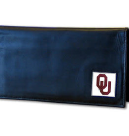 Siskiyou Oklahoma Sooners Deluxe Leather Checkbook Cover