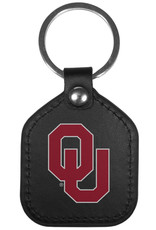 Siskiyou Oklahoma Sooners Leather Square Key Chains