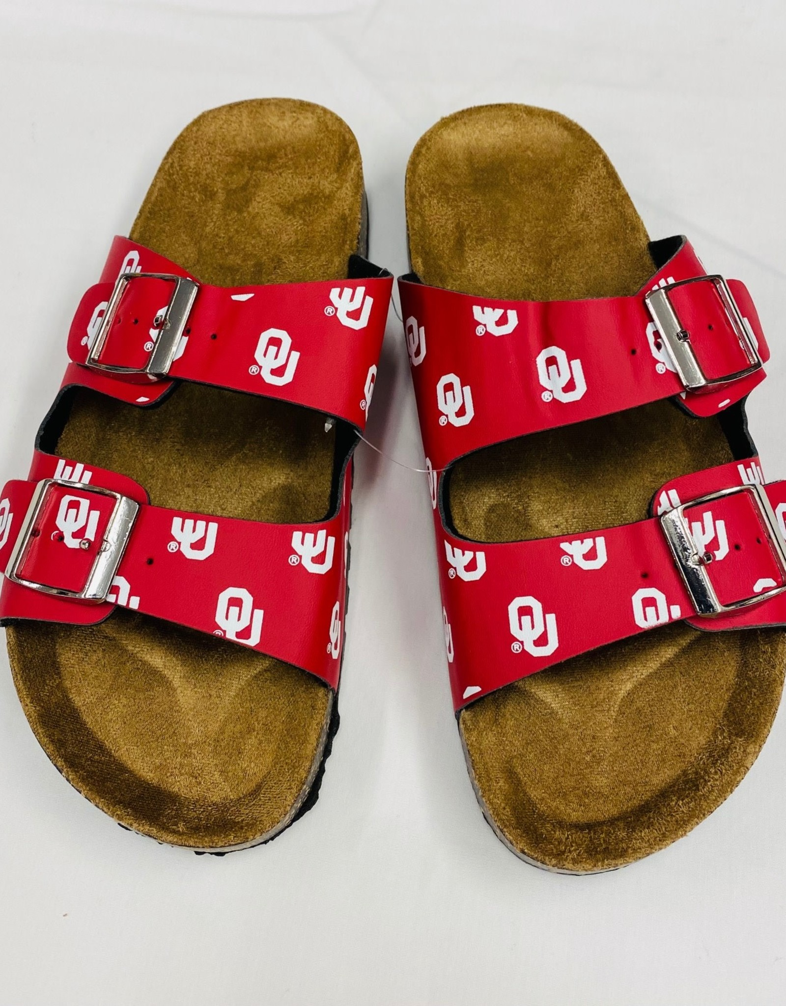 Forever Collectibles OU Mini Print Double Buckle Sandals