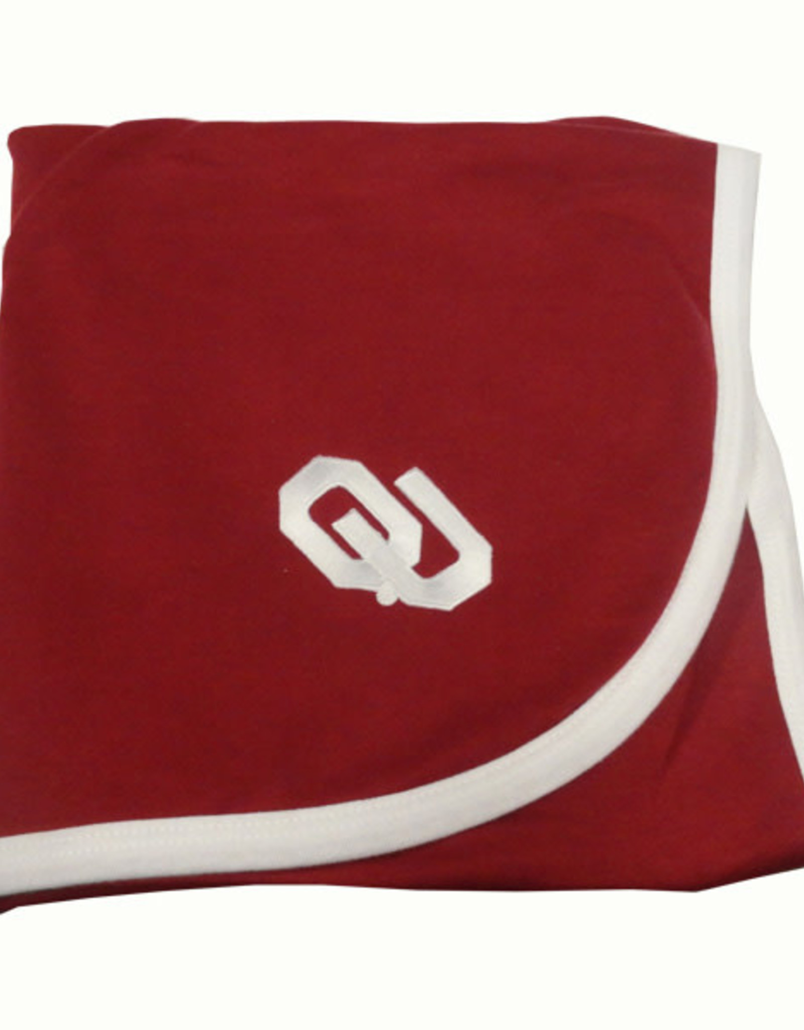 Two Feet Ahead OU Crimson Baby Blanket