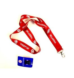 """Pro Specialties Group OU Oklahoma 1"""" Wide Lanyard with Swivel Clip"""