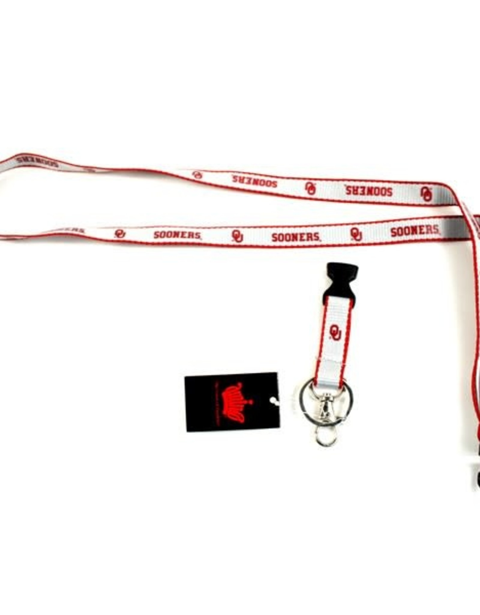 Aminco OU Sooner Narrow Breakaway Lanyard with Swivel Clip