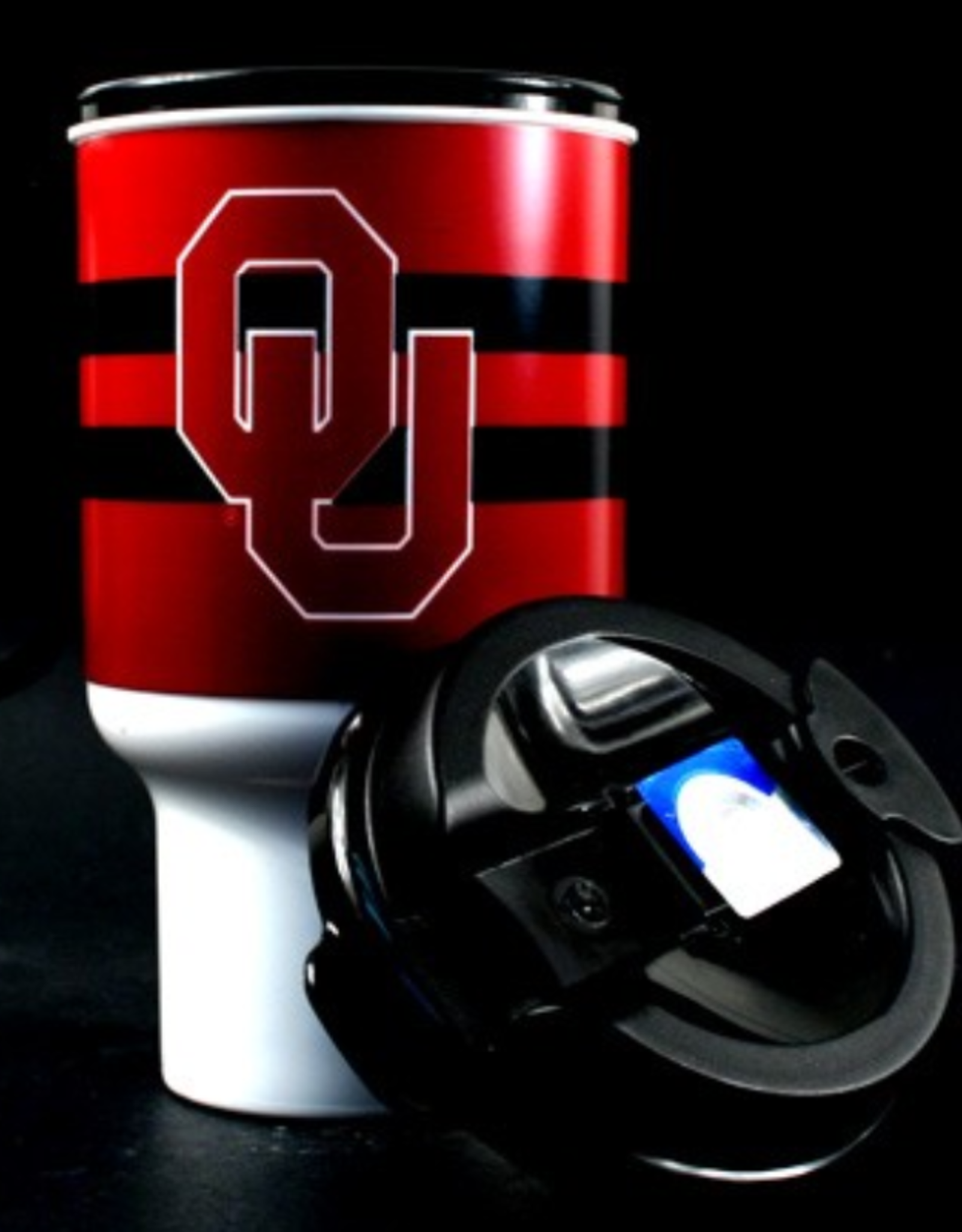 Whirley OU 20oz Plastic Insulated Travel Mug With Lid