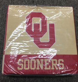 """OU Luncheon Napkins 50 pack (6.5""""x6.5"""" folded)"""