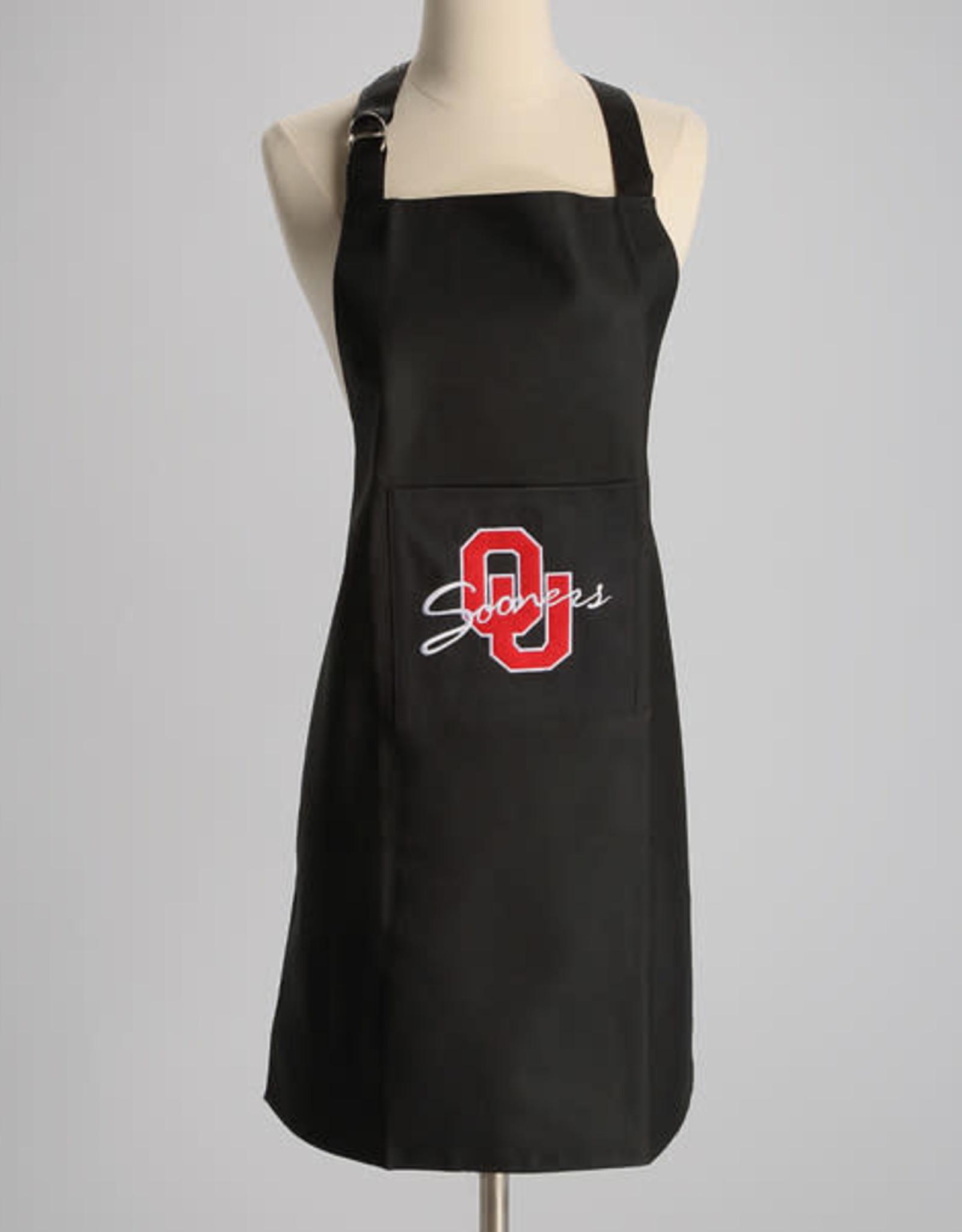 Jenkins Embroidered Black OU Sooners Apron