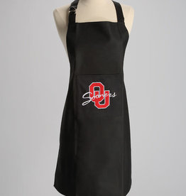Jenkins Embroidered Black OU Sooners Apron