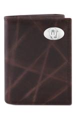 Zep-Pro Zep-Pro Brown Wrinkle Trifold Wallet