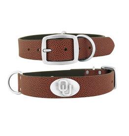Zep-Pro Zep-Pro OU Concho Football Grain Leather Dog Collar