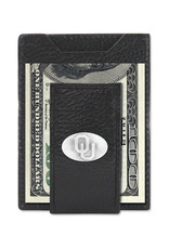 Zep-Pro Zep-Pro Black Pebble Grain Front Pocket Wallet