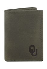 Zep-Pro Zep-Pro OU Gray Leather TriFold Wallet