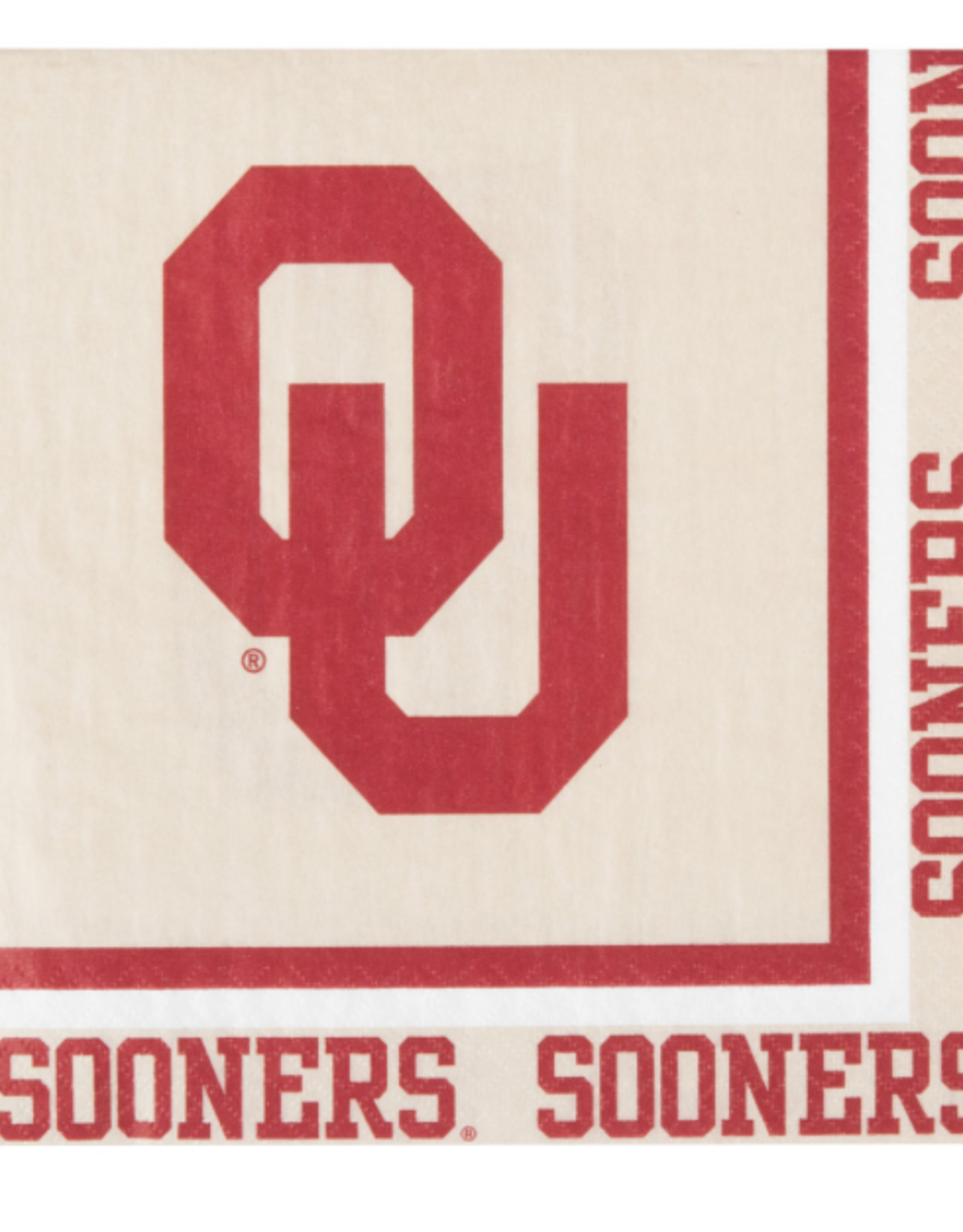 """Creative Converting OU Sooners Paper Napkins 12.75""""x12.75"""" 20 Pack 2-Ply"""