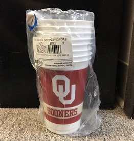 Creative Converting OU Sooners Plastic Disposable 20oz Cups-8 Count Package