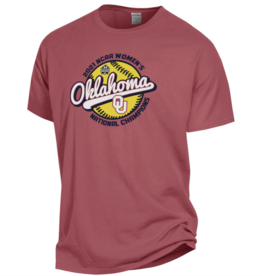Gear For Sports 2021 OU Softball National Champions Comfort Wash Tee