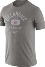 Nike Men's Nike Gray Oklahoma Tri Blend Old School SS Tee