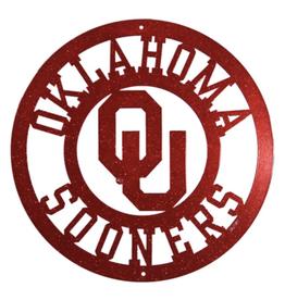 """Swen Swen Oklahoma Sooners Circle Crimson Wall Art 12"""""""