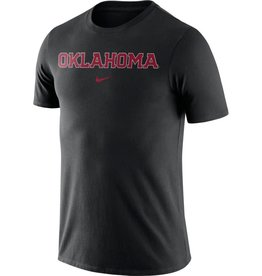 Nike Men's Nike Core Cotton Black Oklahoma Tee