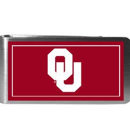 Siskiyou Oklahoma Sooners Steel Logo Money Clips