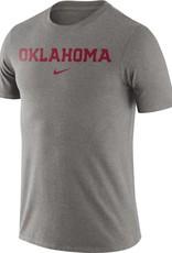 Nike Men's Nike Dk Gray Heather Essential Oklahoma Wordmark Tee