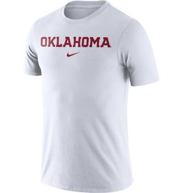 Nike Men's Nike White Essential Oklahoma Wordmark Tee