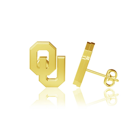 Dayna U OU Gold Plated Post Earrings