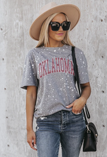 Gameday Couture Gameday Couture Better Times OU Bleach Splash Dyed Tee