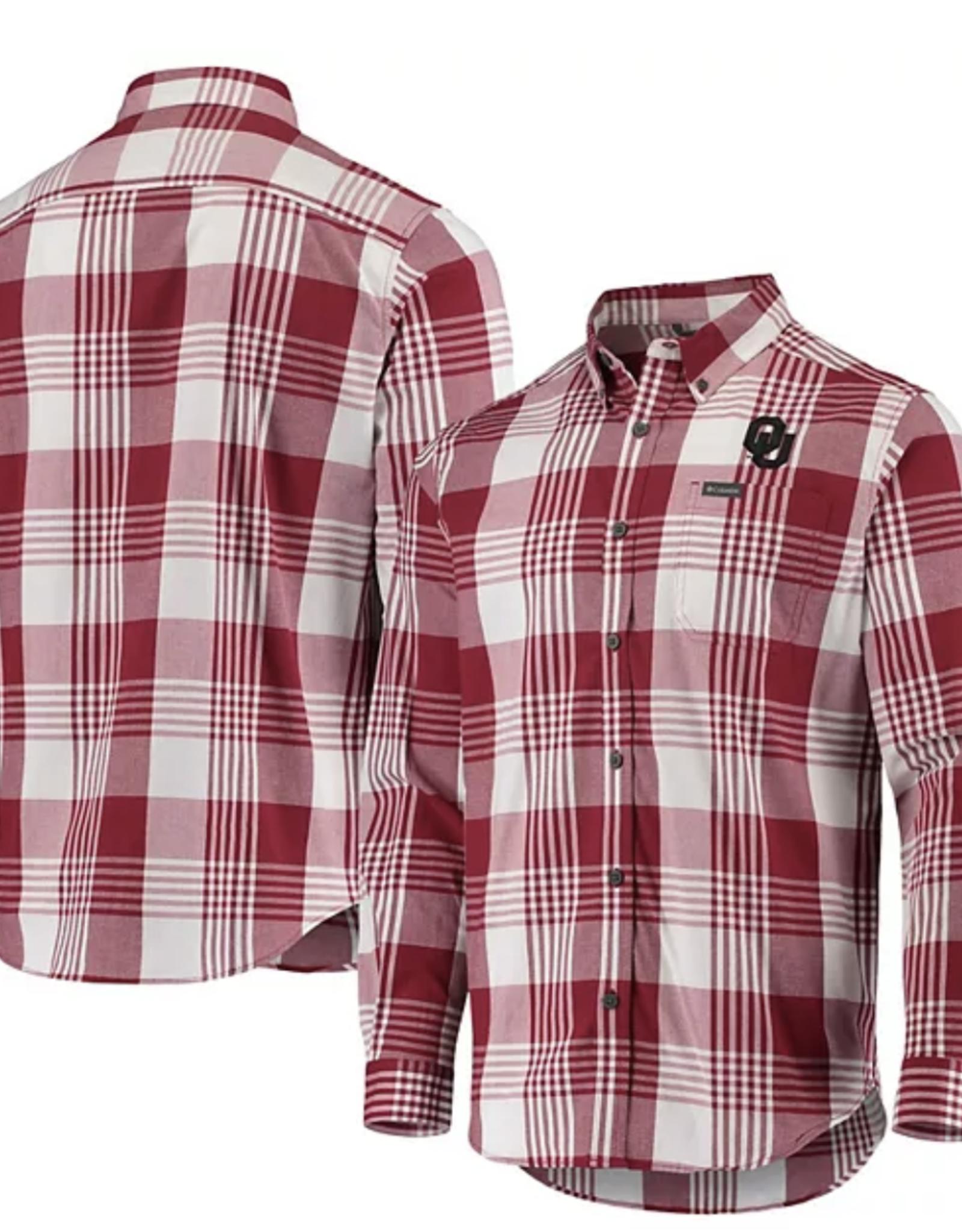 Columbia Men's Columbia OU Rapid Rivers LS Plaid Shirt
