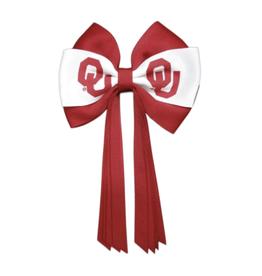 USA Licensed Bows Oklahoma Sooners Mini Streamer Bow
