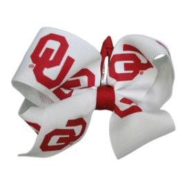 USA Licensed Bows Oklahoma Sooners Kiddie Clippie