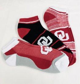 FBF FBF OU Cash 3-Pack Ankle Socks (Men's 10-13)