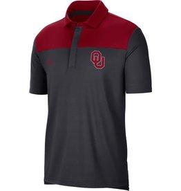 Jordan Men's Jordan OU 2021 Anthracite/Crimson Coaches Polo