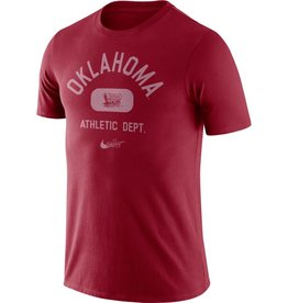 Nike Men's Nike Crimson Oklahoma Tri Blend Old School SS Tee