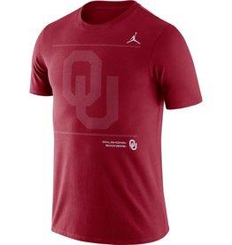 Jordan Men's Jordan DriFit Cotton Crimson OU SS Team Issue Tee