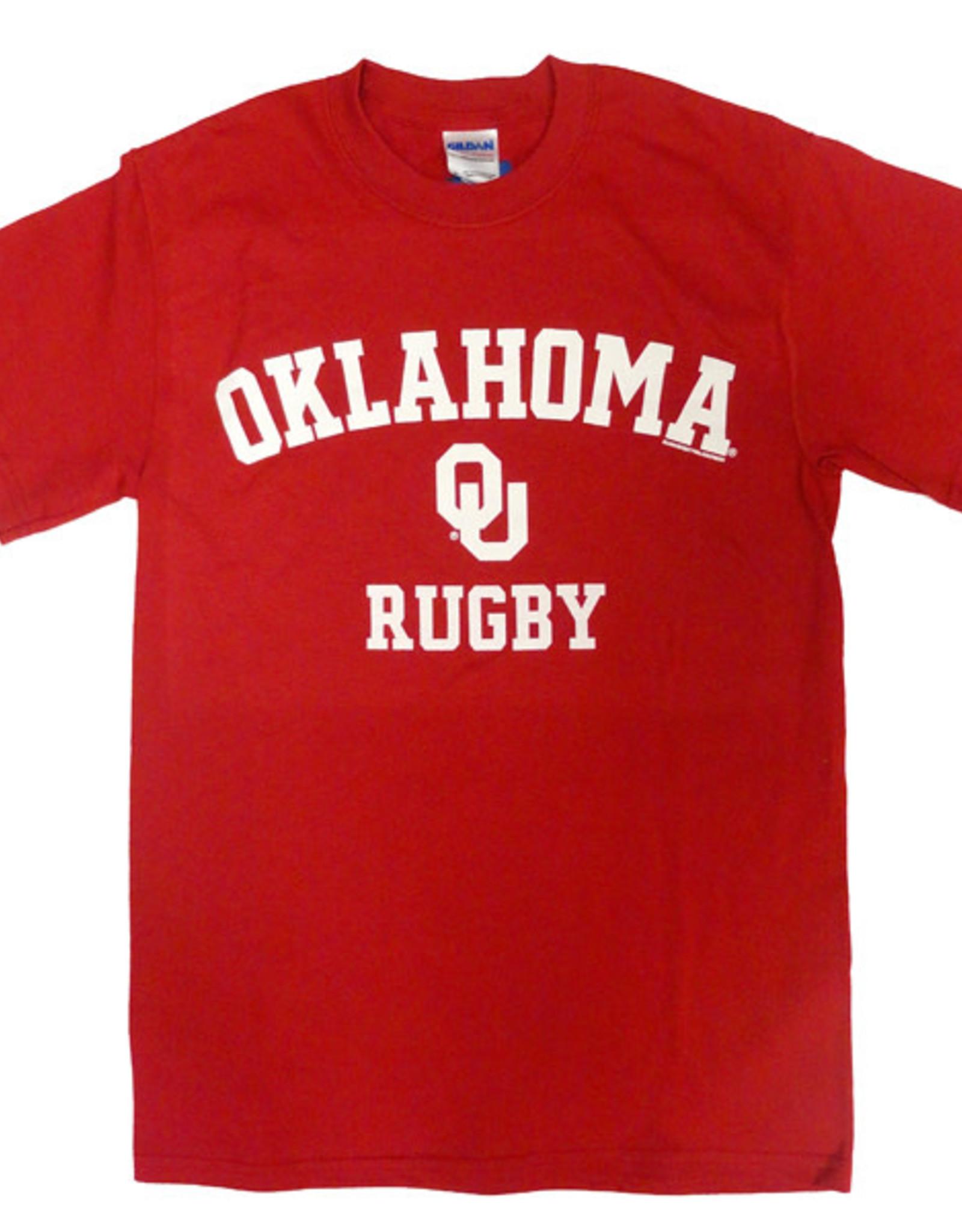 Gildan Basic Cotton Tee Oklahoma Rugby Crimson