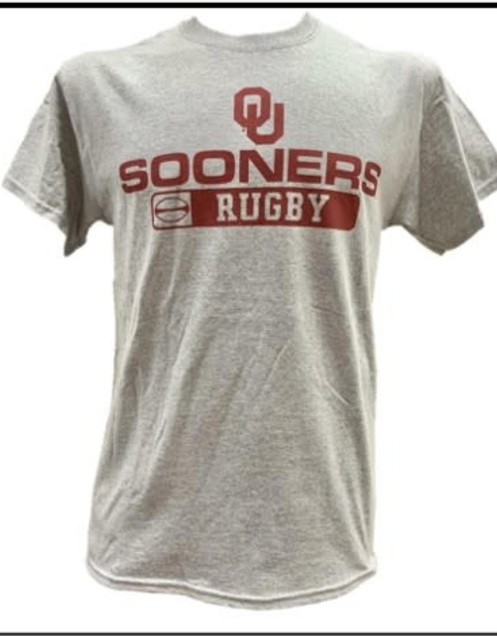 Gildan Basic Cotton Tee Oklahoma Rugby Athletic Grey