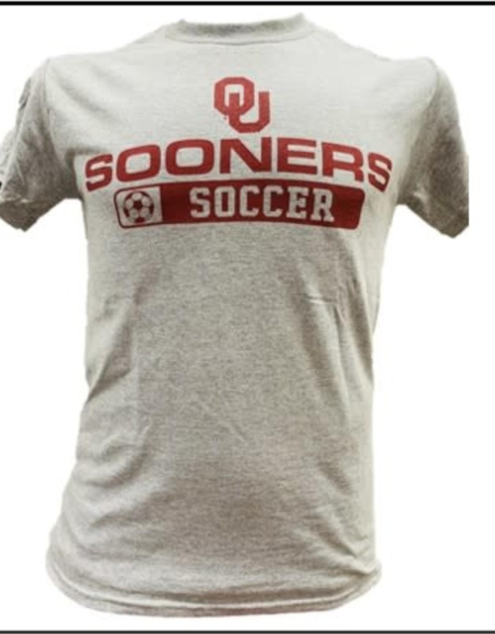 Gildan Basic Cotton Tee Oklahoma Soccer Athletic Grey