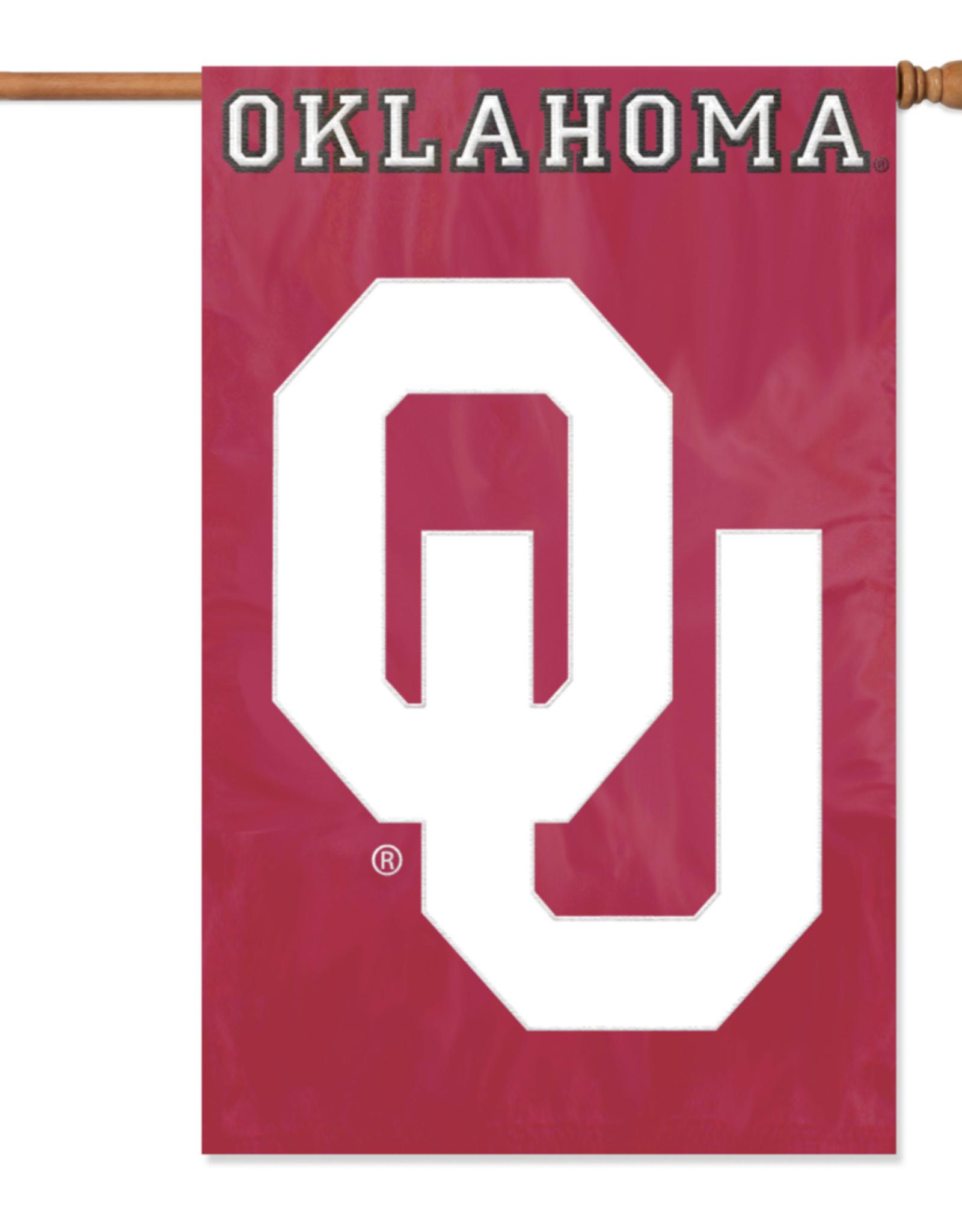 """Party Animal Oklahoma OU Applique Banner (44"""" x 28"""")"""