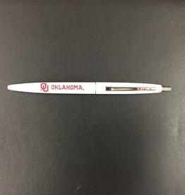 Bic Bic Clic OU Oklahoma White Ballpoint Pen